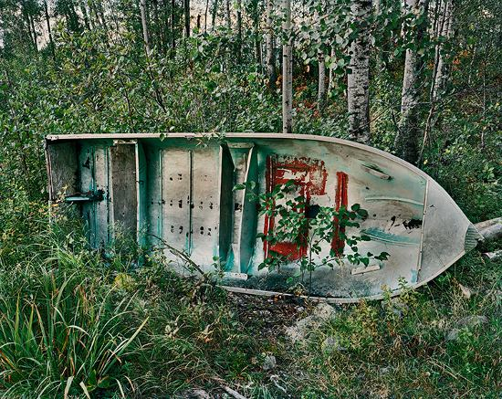 Joseph Hartman - Return, Boat in Woods, Collins, ON, 2010 - Image Copyright by Joseph Hartman, Courtesy of Stephen Bulger Gallery
