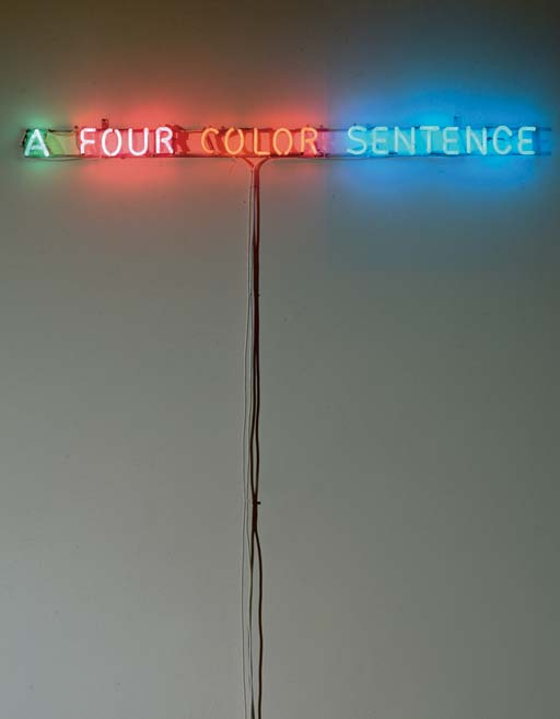 Joseph Kosuth-A Four Color Sentence-1965