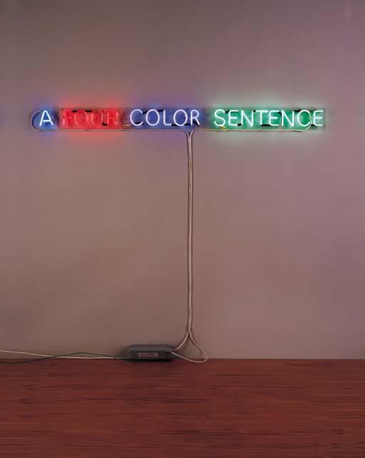 Joseph Kosuth-A Four Color Sentence-1967