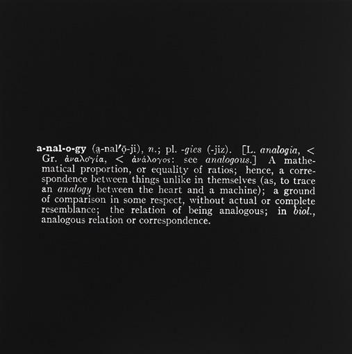 Joseph Kosuth-Analogy-1965