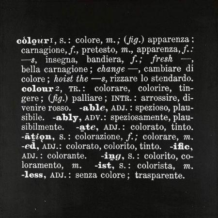 Joseph Kosuth-Art As Idea As Idea, Colour-1967
