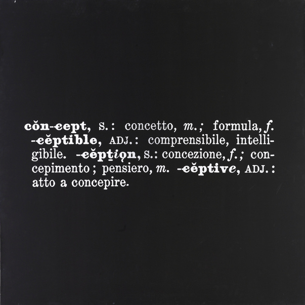 Joseph Kosuth-Art As Idea As Idea, Concept-1967