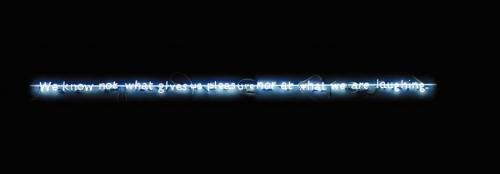 Joseph Kosuth-C.S. (Neon) 2-1989