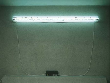 Joseph Kosuth-C.S. (The Difficulty in Understanding Now Lies Elsewhere)-1988