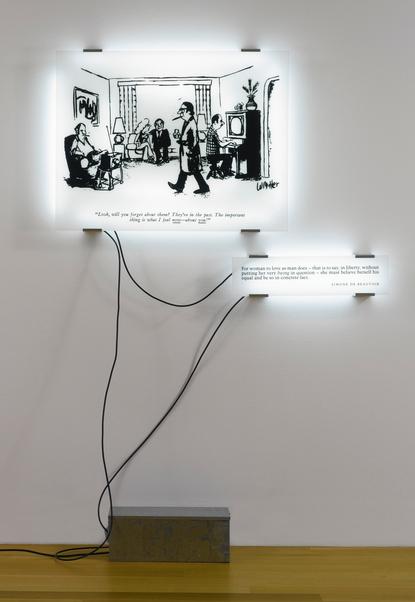 Joseph Kosuth-Double Reading No.13-1993