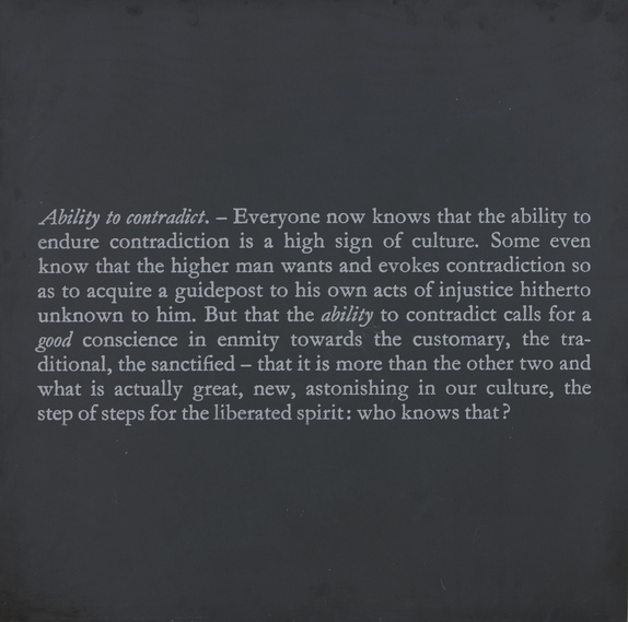 Joseph Kosuth-Error of Philisophers 4 (Ability to Contradict)-1991