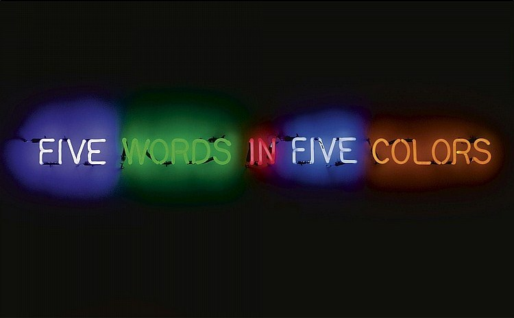 Joseph Kosuth-Five Words in Five Colors-1965