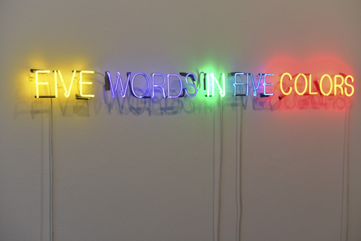 Color art words - Joseph Kosuth Art