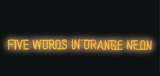 Joseph Kosuth-Five Words in Orange Neon-1965