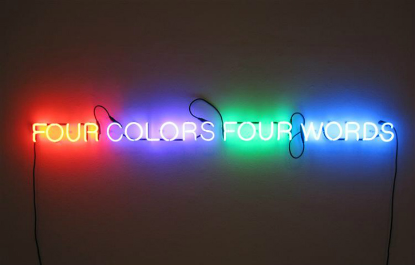 he is an american artist whose neon installation has been shown at sean kelly gallery and in museum collection