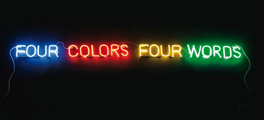 Joseph Kosuth-Four Colors Four Words (Blue, Red, Yellow, Green)-1966