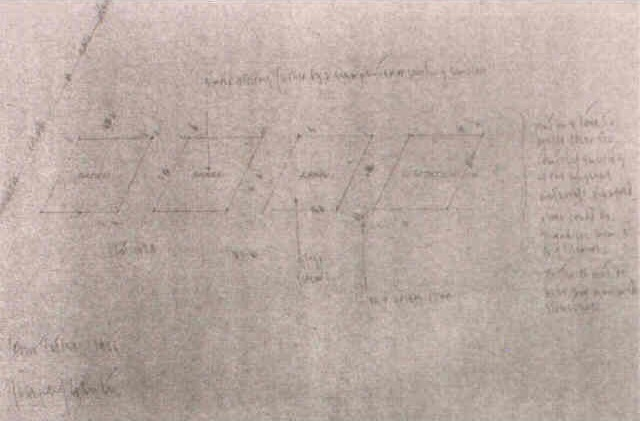 Joseph Kosuth-Four Titles Working Drawing-1966