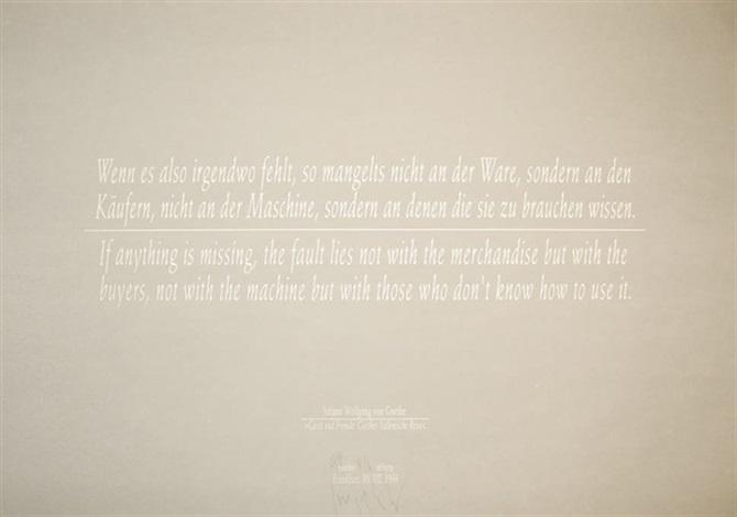 Joseph Kosuth-Gaste und Fremde: Goethes Italienische Reise-1999