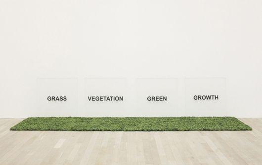 Joseph Kosuth-Grass, Gegetation, Green, Growth-1965
