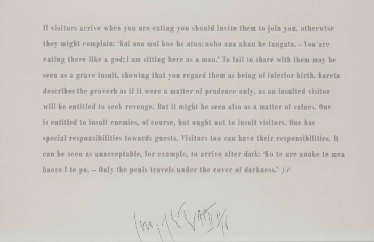 Joseph Kosuth-If Visitors Arrive-1999