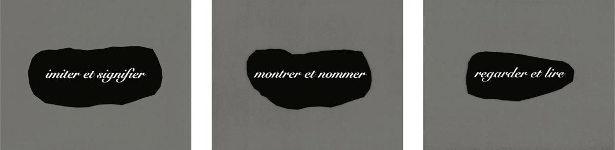 Joseph Kosuth-L'essence de la Rhetorique est dans l'allegorie IV-1998