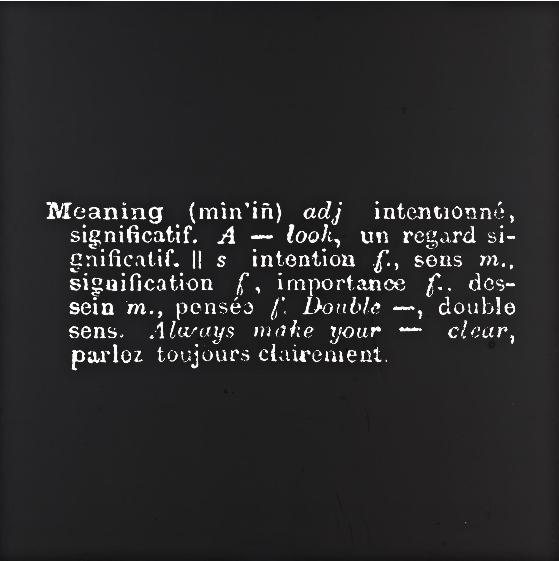 Joseph Kosuth-Meaning (Art as idea as idea)-1967