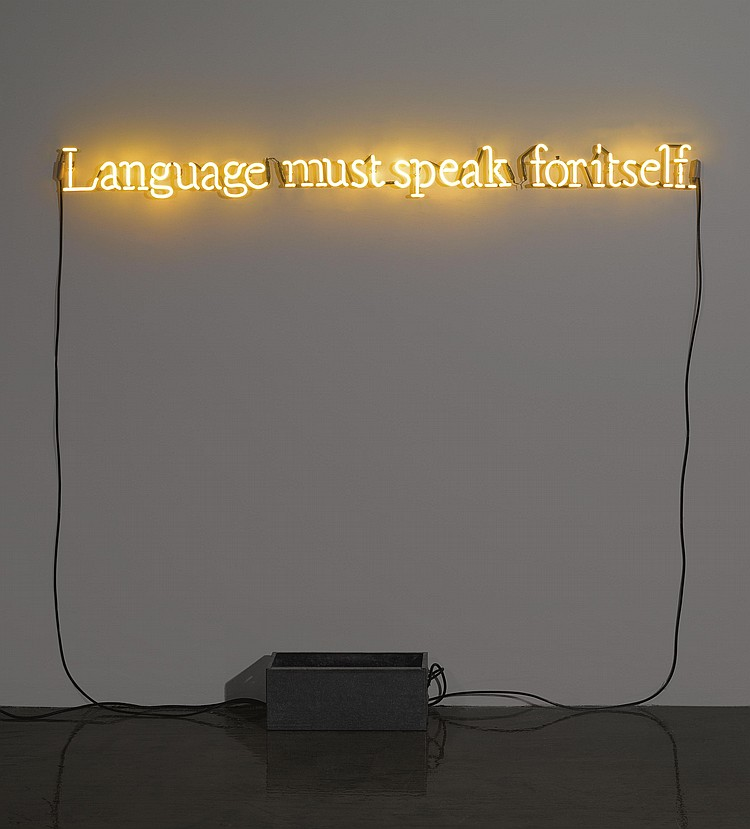 Joseph Kosuth-No Number No.3 (Yellow)-1991