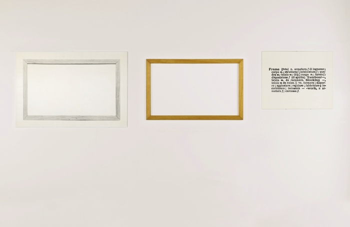 Joseph Kosuth-One And Three Frames-1965