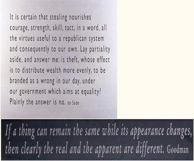 Joseph Kosuth-One + Nine, Re-text No.2-2003