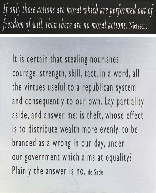 Joseph Kosuth-One + Nine, Re-text No.3-2003