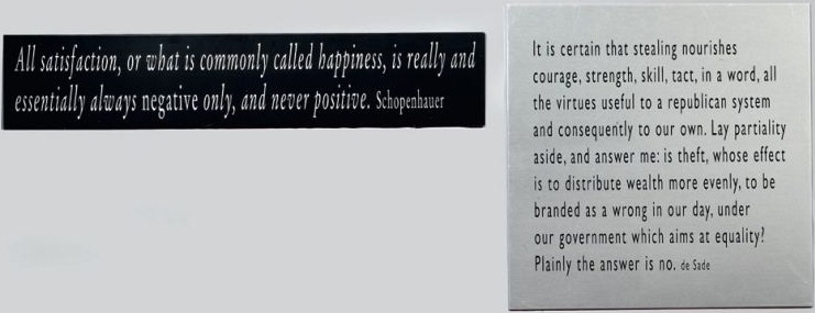 Joseph Kosuth-One + Nine, Re-text No.6-2003