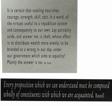 Joseph Kosuth-One + Nine, Re-text No.9-2003