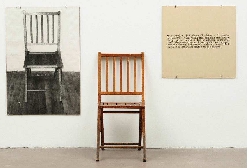 He exhibited photograph and works of definition of chair. This exhibitions are part of his research