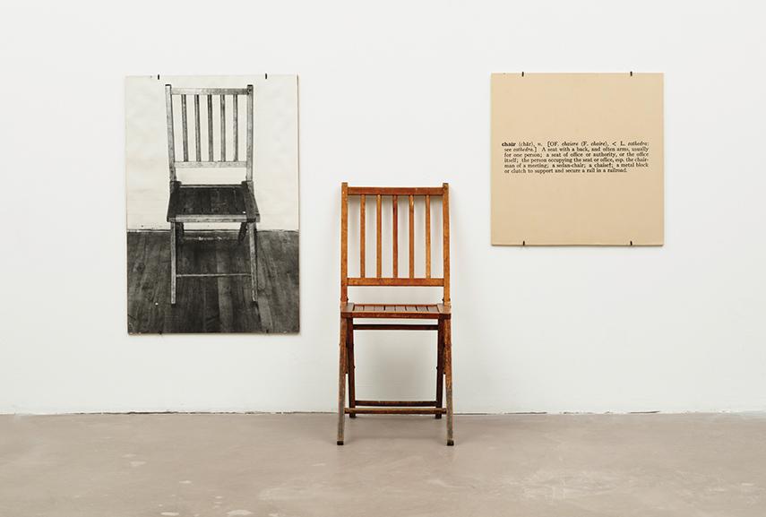 Joseph Kosuth - One and Three Chairs, 1965