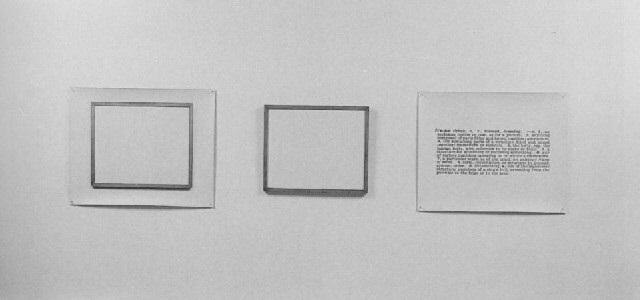 Joseph Kosuth-One and Three Frames-1965