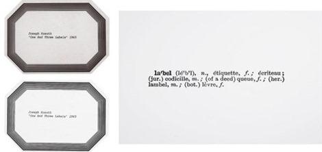 Joseph Kosuth-One and Three Labels-1965