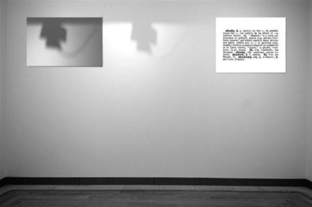 Joseph Kosuth-One and Three Shadows (Ety. Hist.)-1965