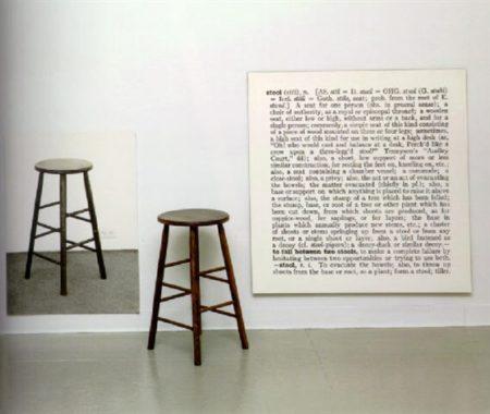 Joseph Kosuth-One and Three Stools-1965