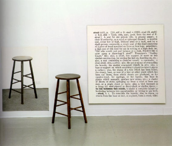 Joseph Kosuth-One and Three Stools-1965