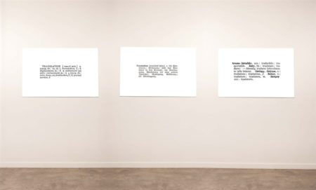 Joseph Kosuth-One and Three Translations-1966