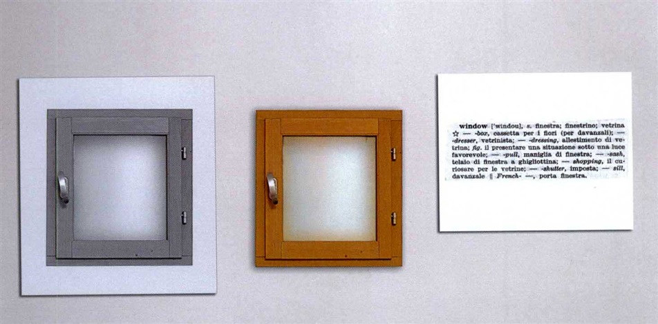 Joseph Kosuth-One and Three Windows-1965