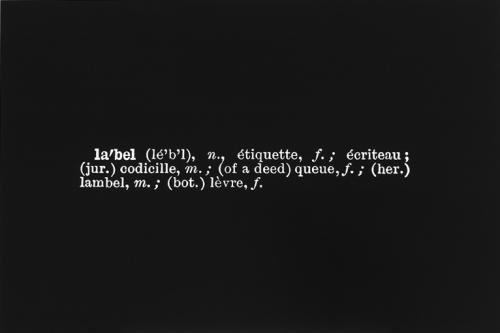 Joseph Kosuth-One and Three Labels-1965