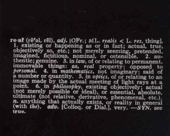 Joseph Kosuth-Real-1968