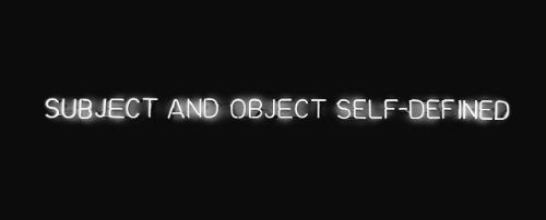 Joseph Kosuth-Subject and Object Self-Defined-1966