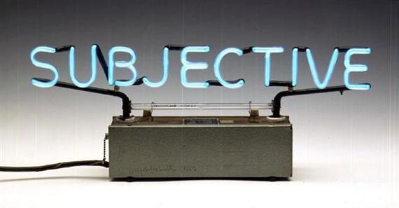 Joseph Kosuth-Subjective-1966