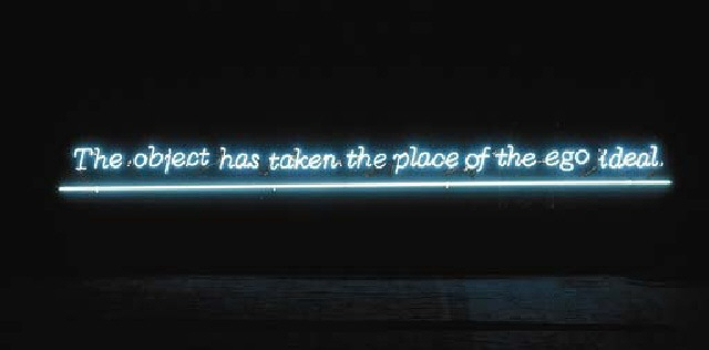 Joseph Kosuth-The Object Has Taken the Place of the Ego IIeal-1989