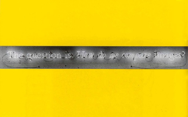 Joseph Kosuth-The Question is: How do We Compare Images?-1987