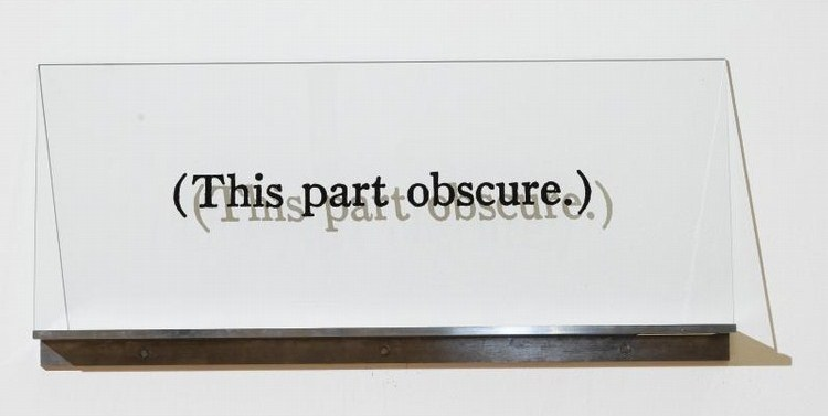 Joseph Kosuth-(This part obsure)-1994