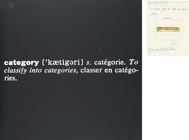 Joseph Kosuth-Titled (Art as Idea as Idea) Category-1968