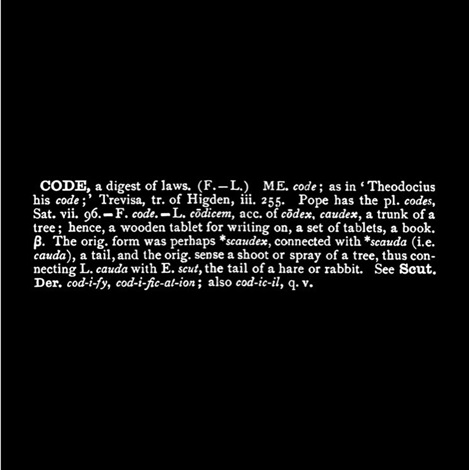 Joseph Kosuth-Titled (Art as Idea as Idea) Code Ety. Oxf-1968