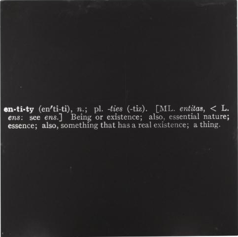 Joseph Kosuth-Titled (Art as Idea as Idea) [Entity]-1967