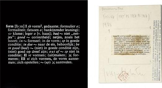 Joseph Kosuth-Titled (Art as Idea as Idea) [Form]-1968