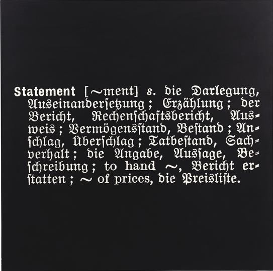 Joseph Kosuth-Titled (Art as Idea as Idea) [Statement]-1966