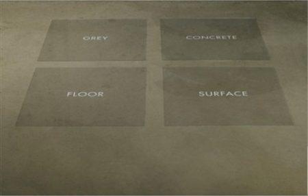 Joseph Kosuth-Untitled, Grey Concrete Flour Surface-1966