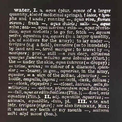 Joseph Kosuth-Water-